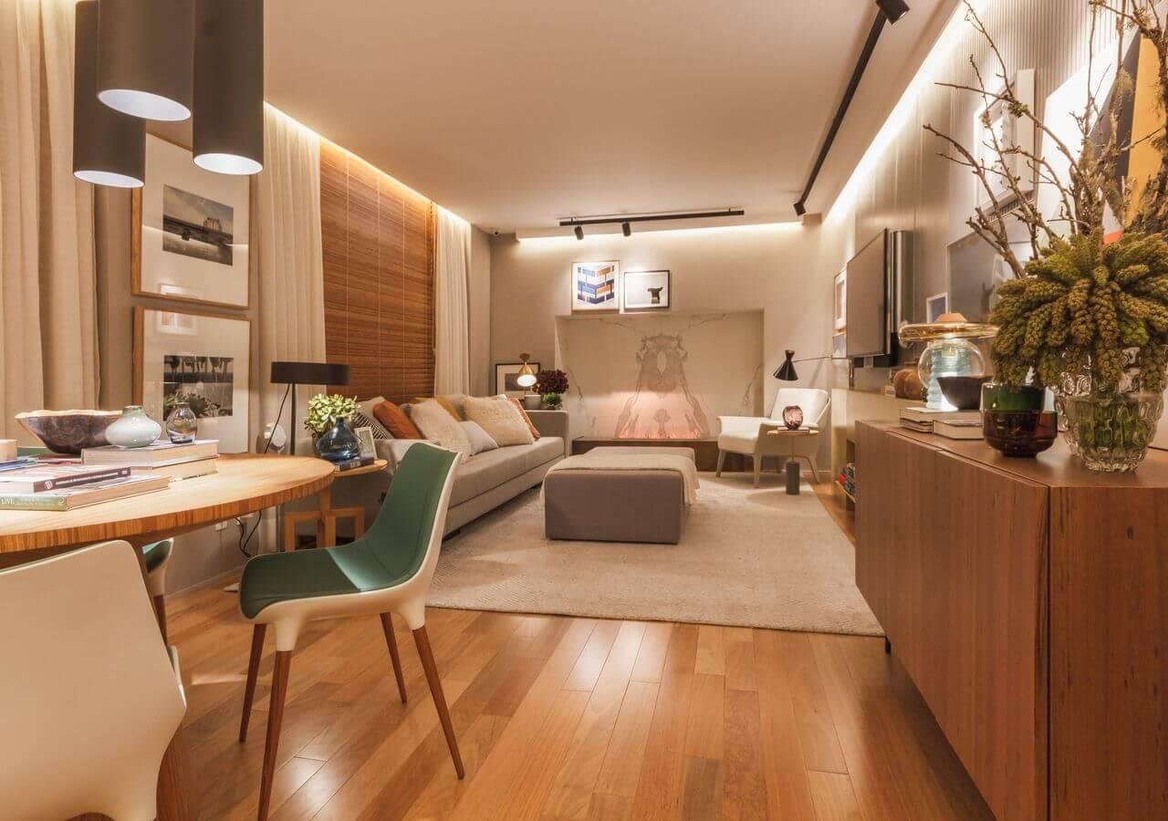 Piso de madeira vantagens dicas e modelos desse revestimento for Cores para sala de estar 2017