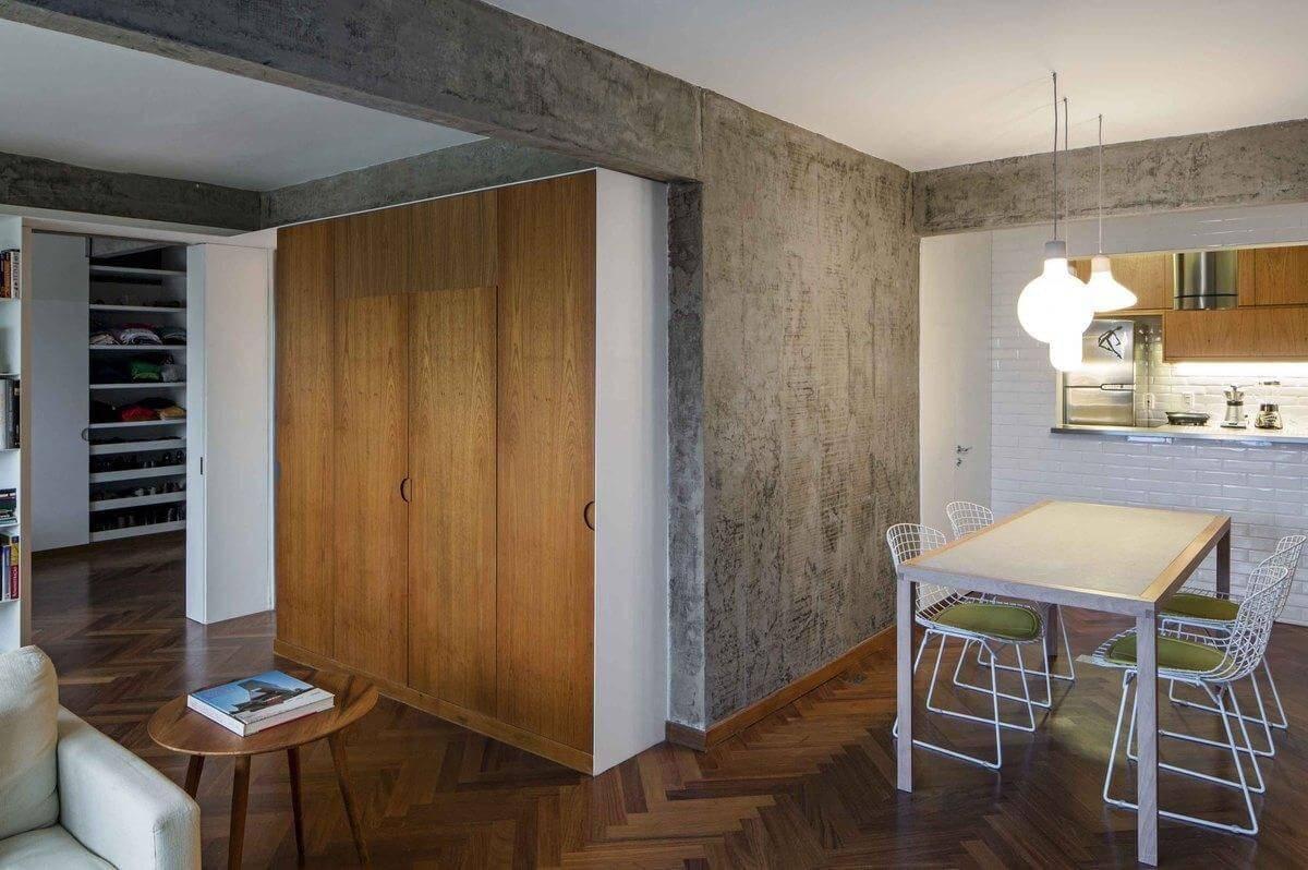 Piso de madeira de taco em zigue zague Projeto de Pascali Semerdjian