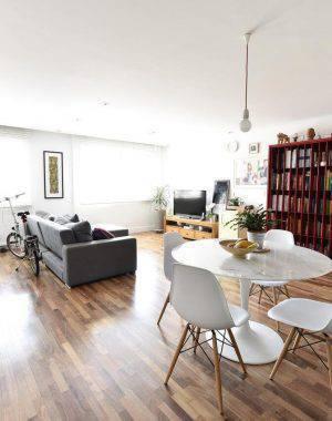 piso de madeira no  sala de estar carla cuono 64246