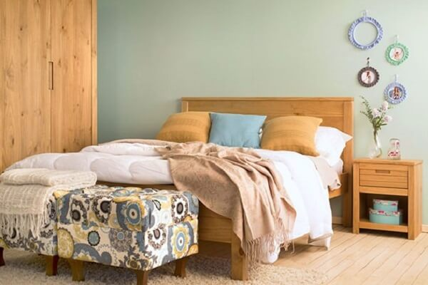 Cores para quartos com puffs