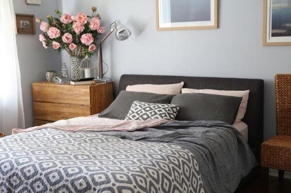 Cores para quartos de casal na cor cinza