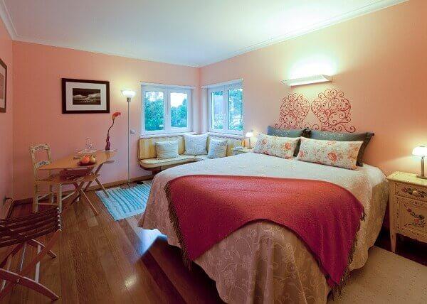 Cores para quartos de casal rosa