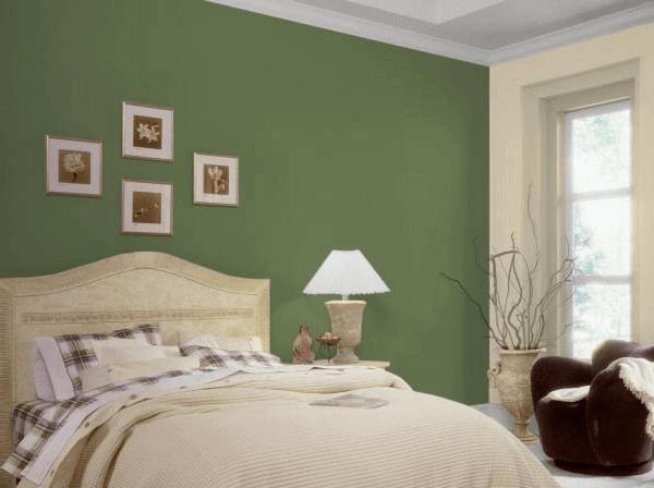 Cores para quartos na cor verde