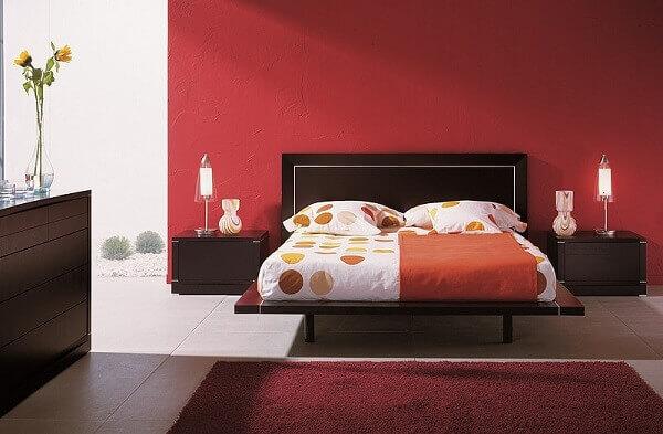 Cores para quartos na cor vermelha e branca