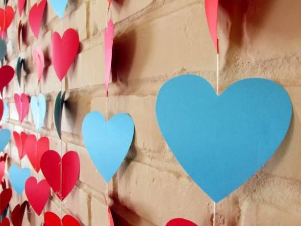 Decoração dia dos namorados - cortina coração