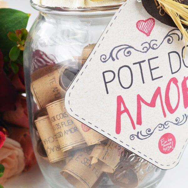 Faça um pote do amor para o dia dos namorados