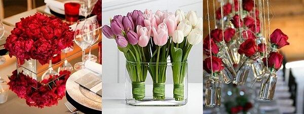 Flores para decoração de dia dos namorados