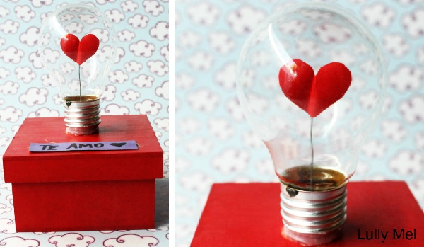 Luminária do amor para decoração de dia dos namorados