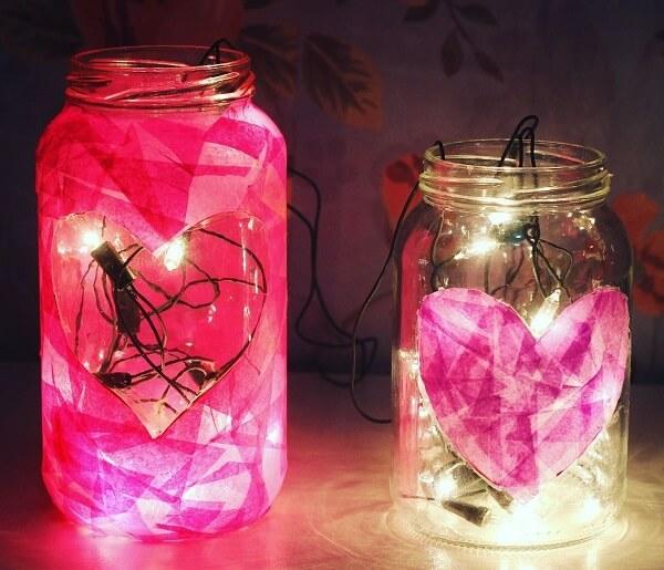 Luminária romântica para o dia dos namorados