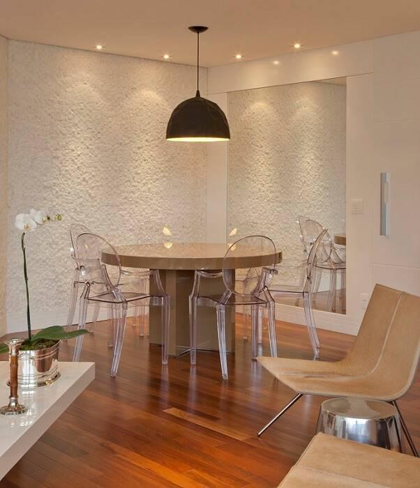 Pendente sala de jantar com luzes