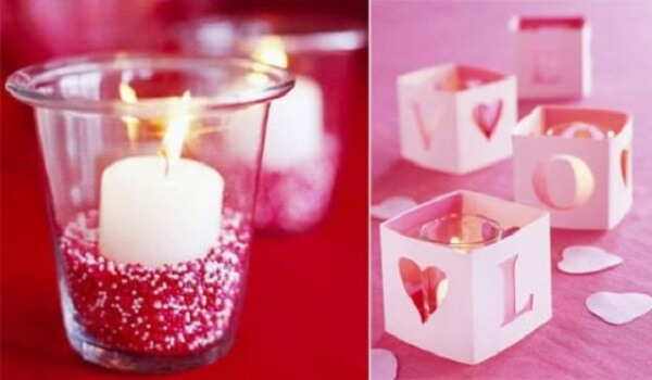 Velas criativas para decoração de dia dos namorados