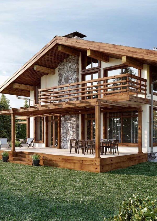 Casas de campo de madeira