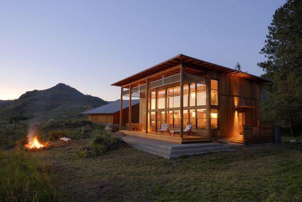 Casas de campo com boa iluminação