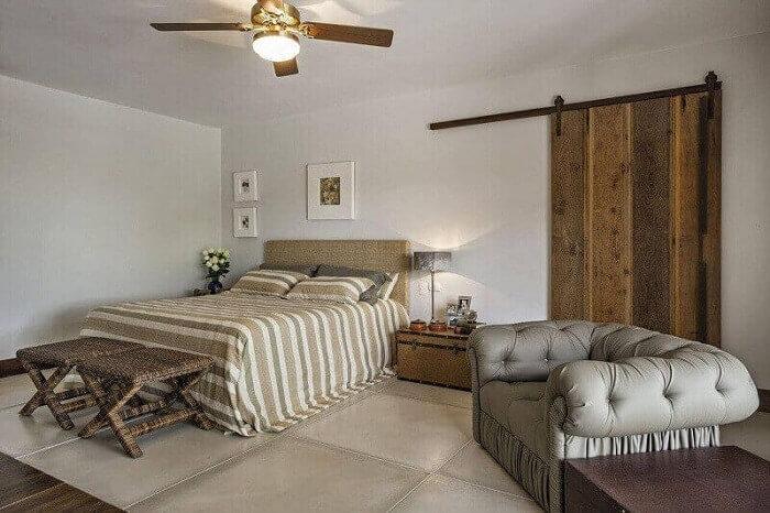 Decoração de quarto em casa de campo