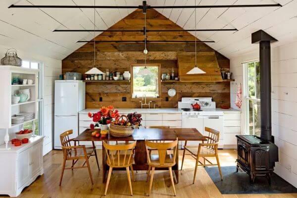 Cozinha de casas de campo