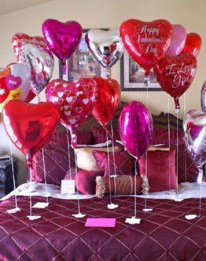 decoração dia dos namorados balões