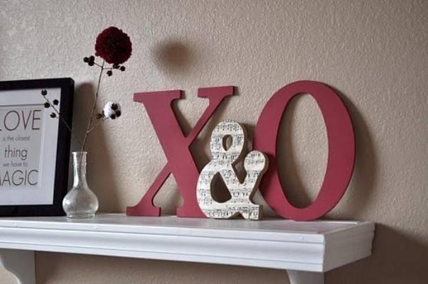 decoração dia dos namorados - letras em mdf