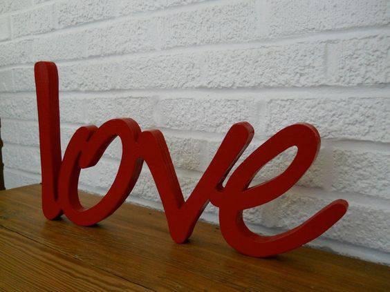 decoração dia dos namorados - mdf