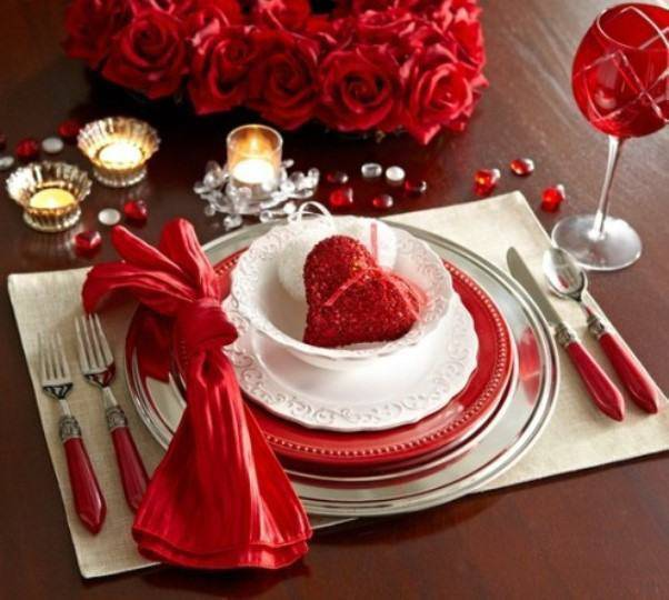decoração dia dos namorados mesa
