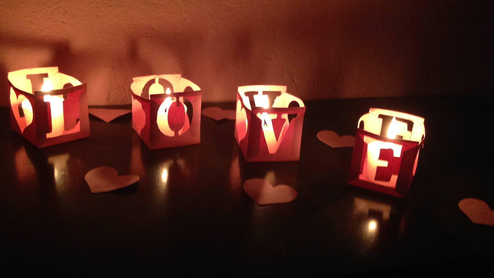 decoração dia dos namorados velas aromáticas