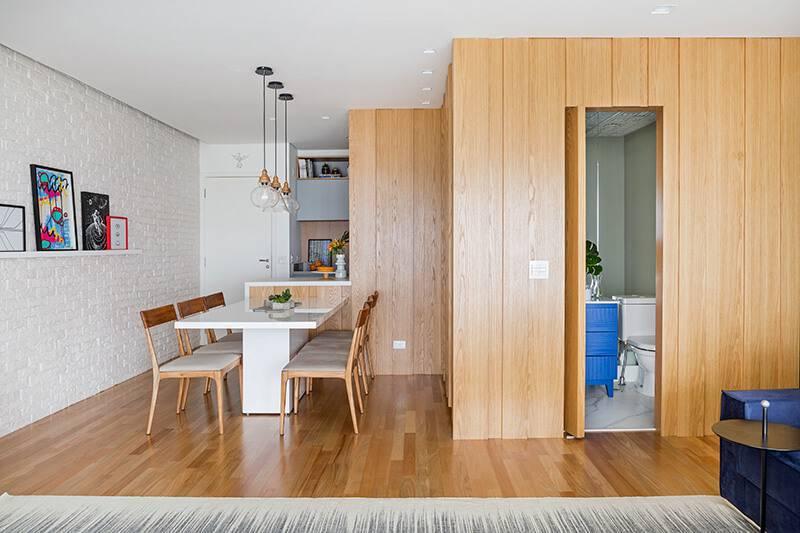 doob relato de projeto apartamento de casal sala de jantar e lavabo