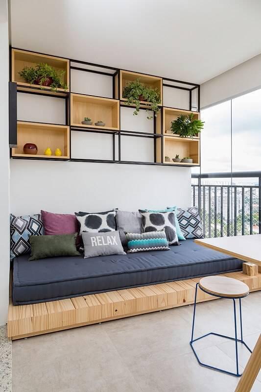 doob relato de projeto apartamento de casal varanda futon