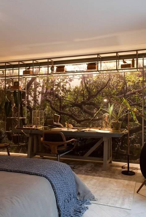 escrivaninha quarto de casal parede adesivada sandra moura 143889