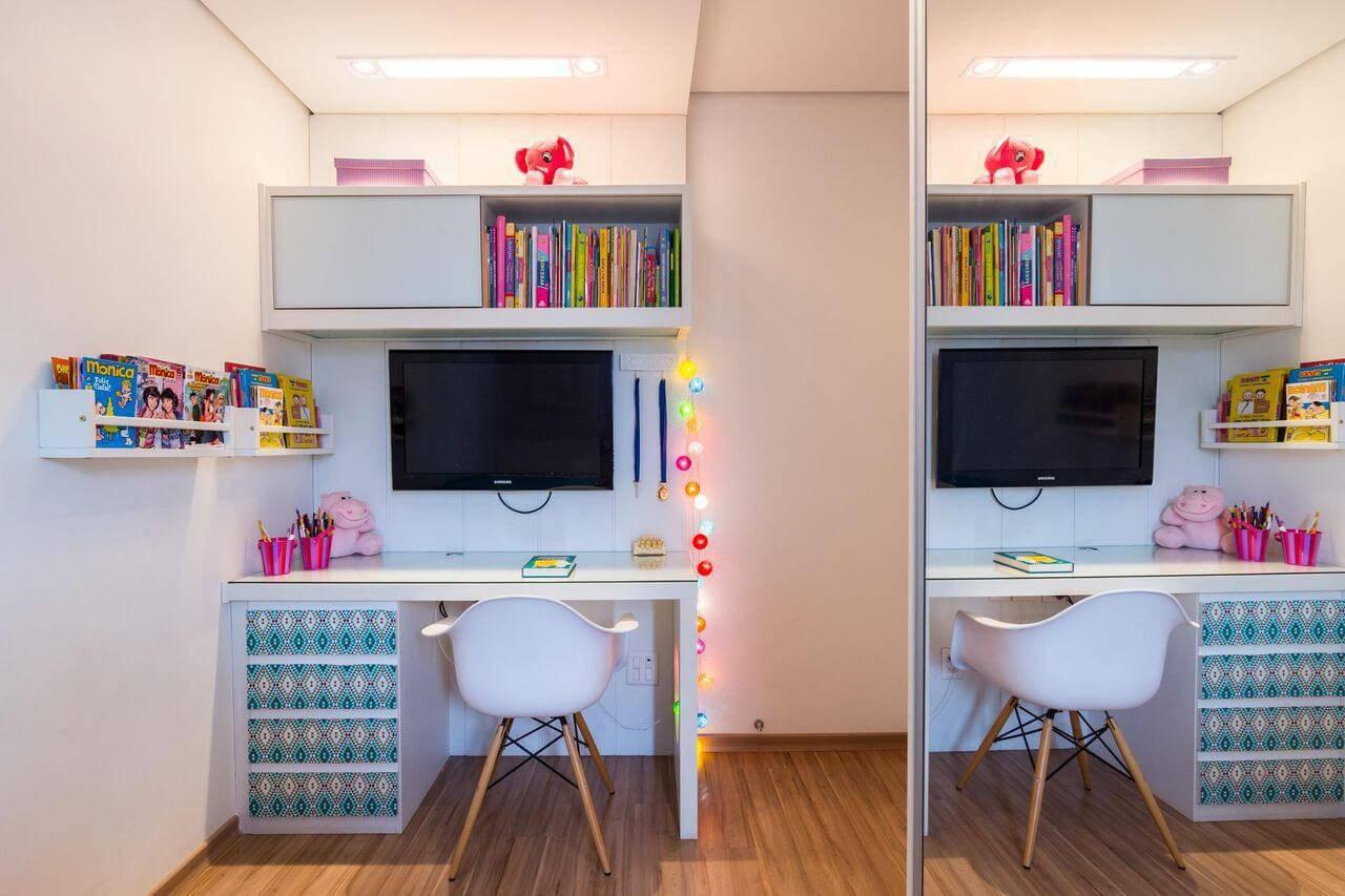 Escrivaninha 29 Ideias E Modelos Para Estudar E Trabalhar Com Gosto ~ Quarto De Meninas Simples E Pequeno
