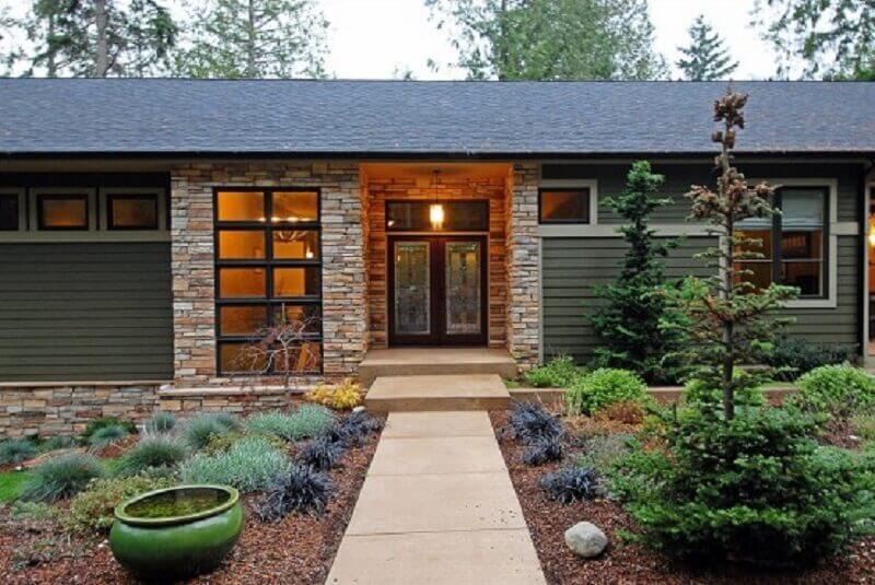 fachada de casa de campo pequena