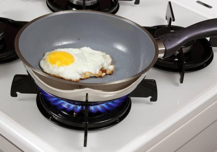 Casa dos sonhos - Frigideira teflon com ovo frito