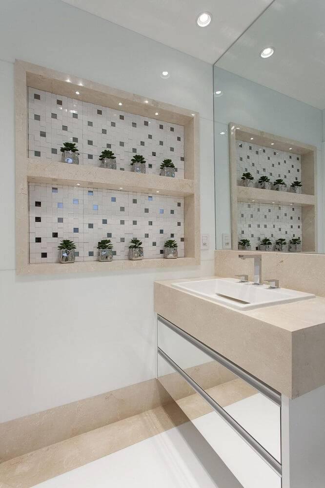 marmore banheiro com prateleiras iara kilaris 76790