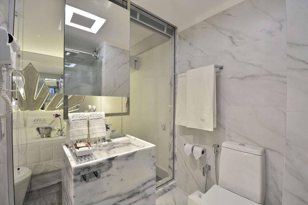 marmore no banheiro pia coluna casa cor 2016 105076
