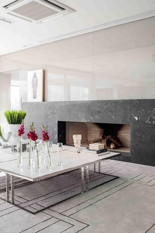 marmore sala de estar lareira lidia maciel 143374