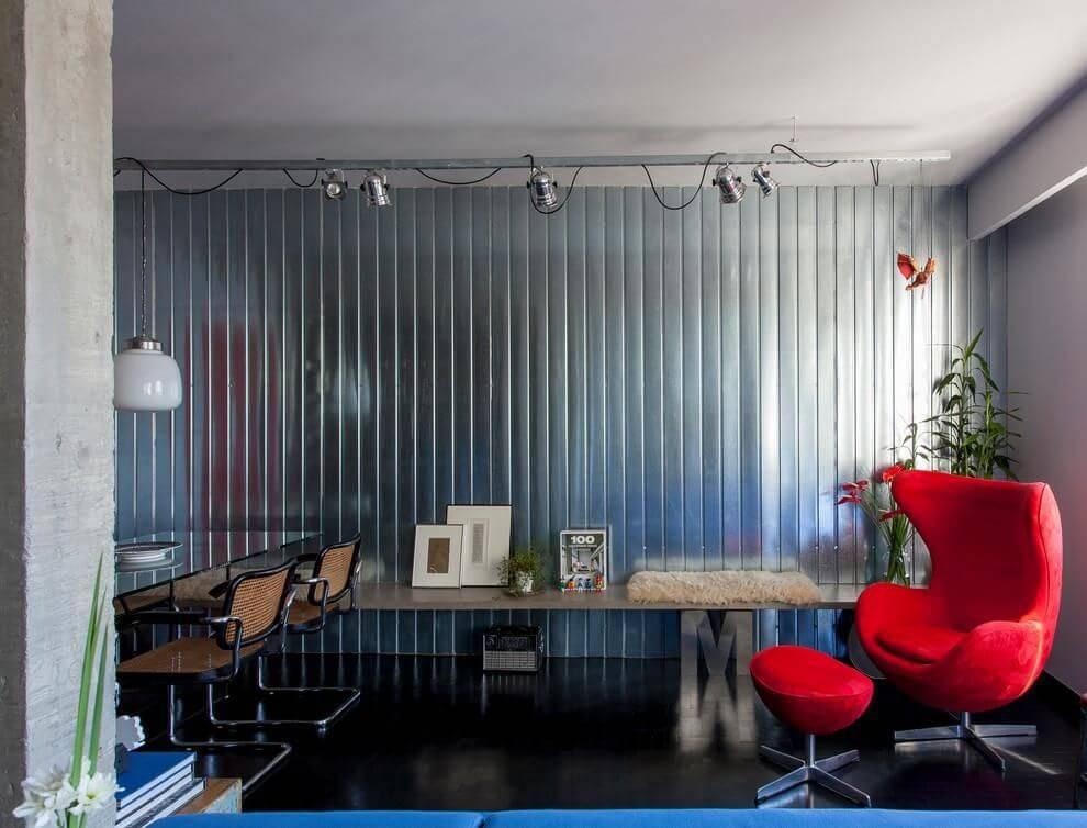 poltrona egg com apoio sala de estar tria arquitetura 85117
