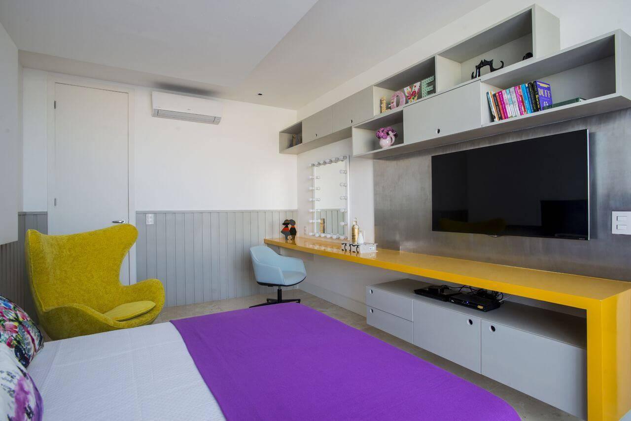 poltrona egg quarto de menina colorido rodrigo maia 133284