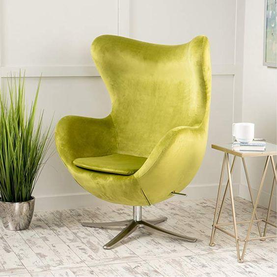 Poltrona egg verde limão