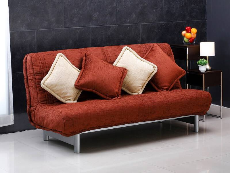 sofa cama vermelho
