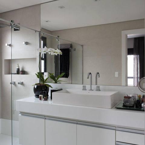 torneira para banheiro misturador prata