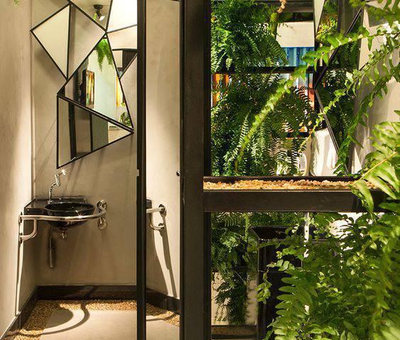 torneiras para banheiro suave espelho origami