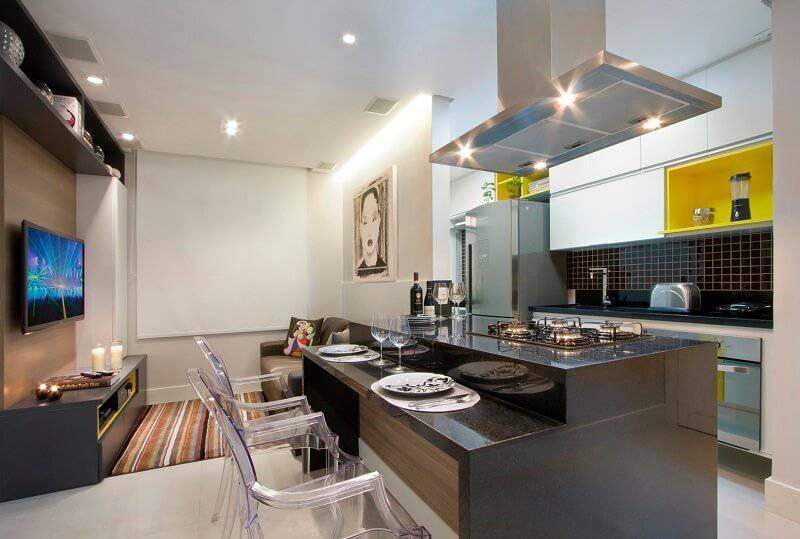 Apartamentos pequenos cozinha americana Gerson Dutra de Sá e Ana Lucia Salama