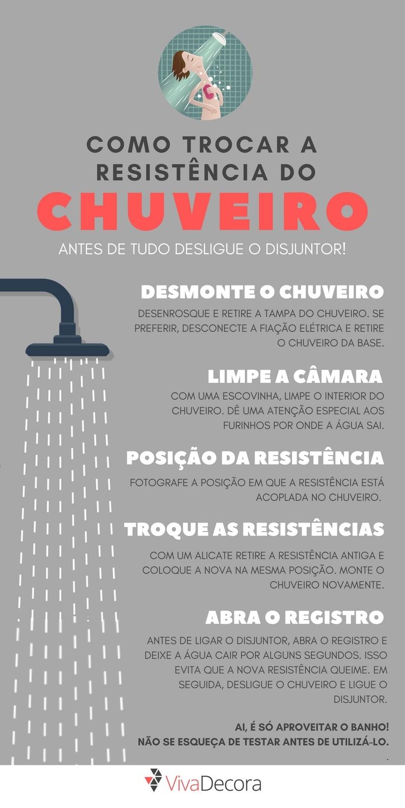 Como trocar resistência do chuveiro