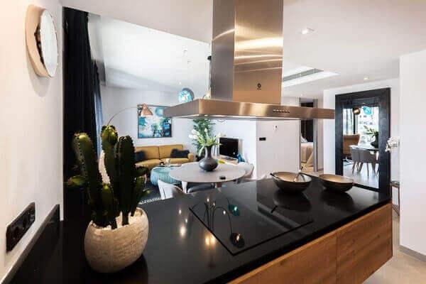 Cactos na decoração de cozinha