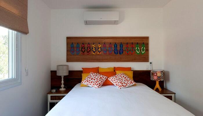 Decoração de quarto de casa de praia simples