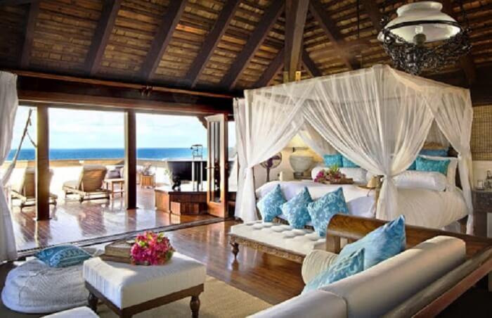Decoração rústica para o quarto da casa de praia
