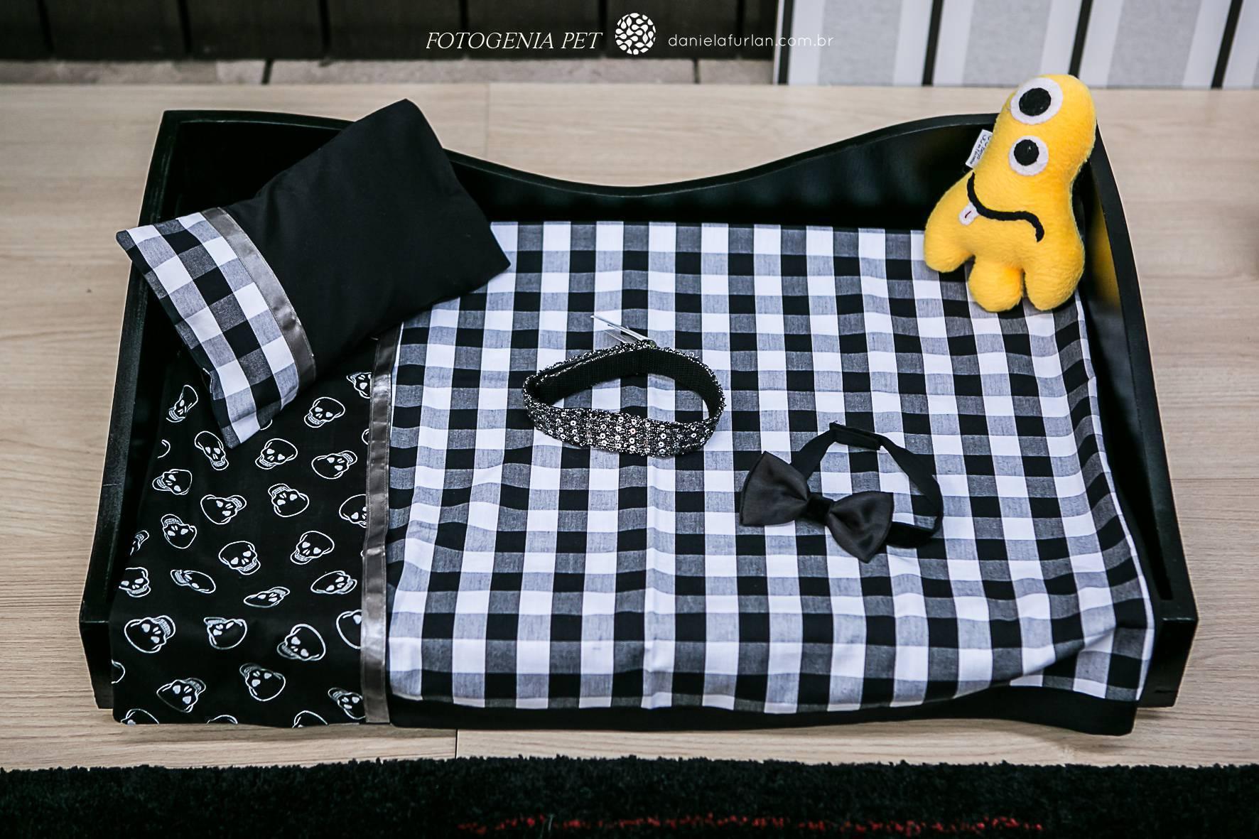 Decoração para pets - cama listrada