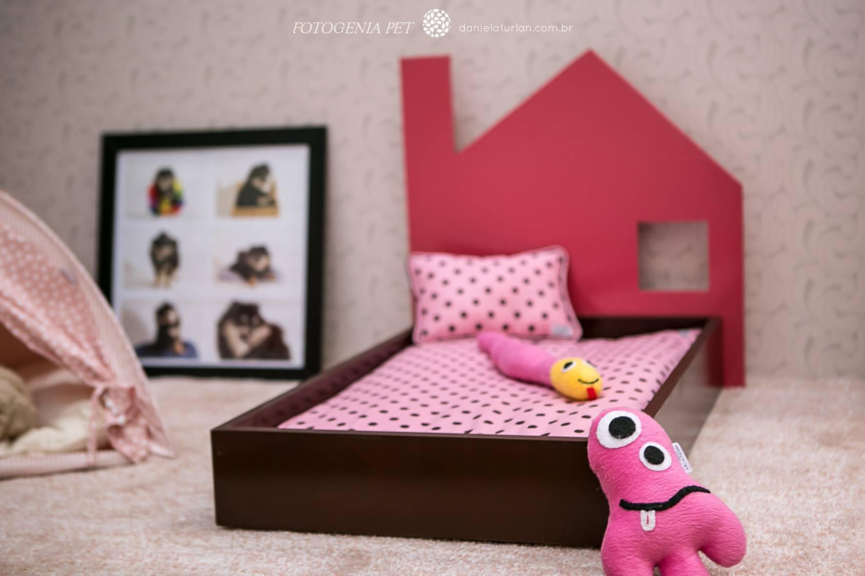 Decoração para pets - caminha rosa