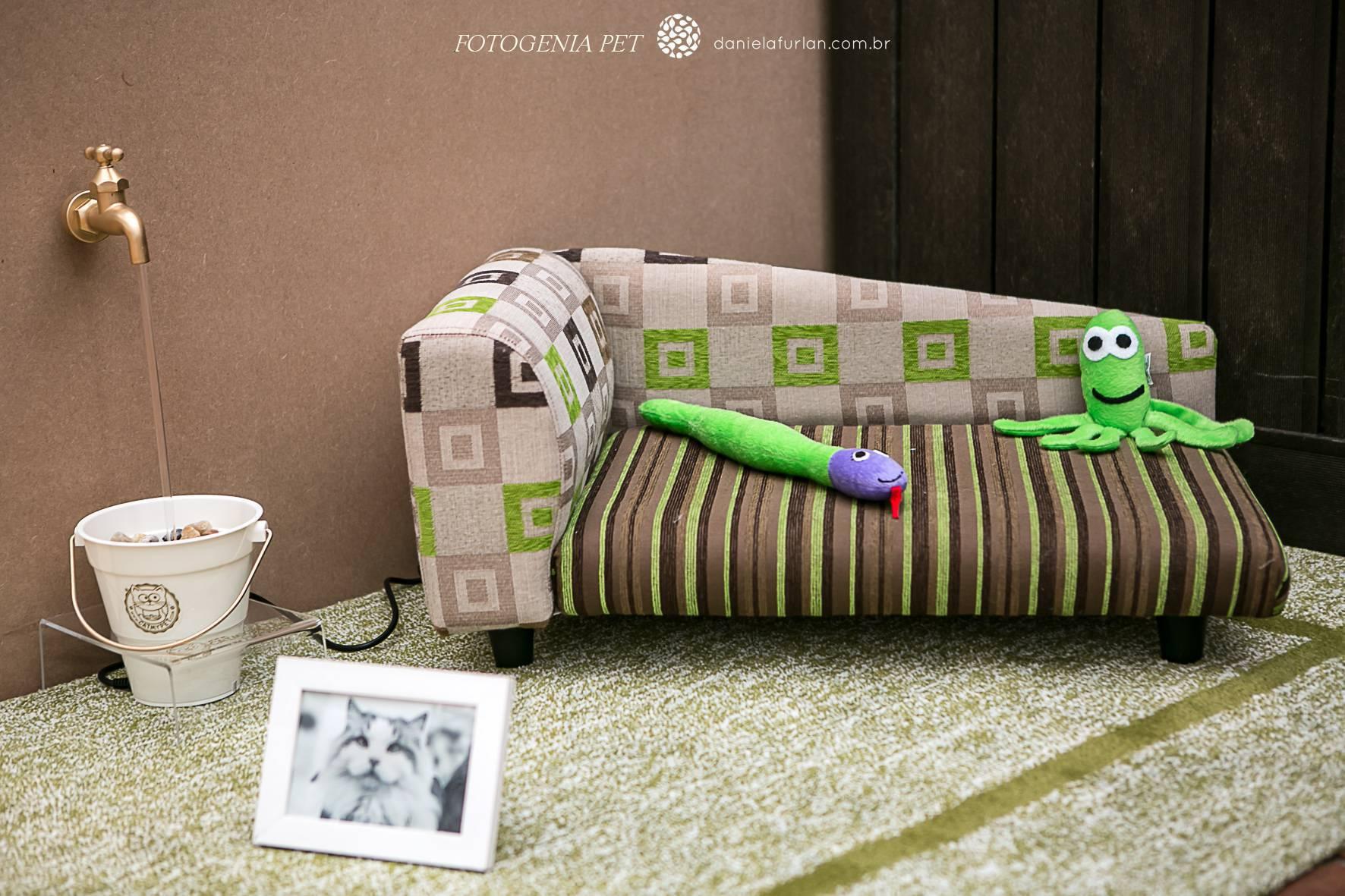 Decoração para pets - Sofá estampado