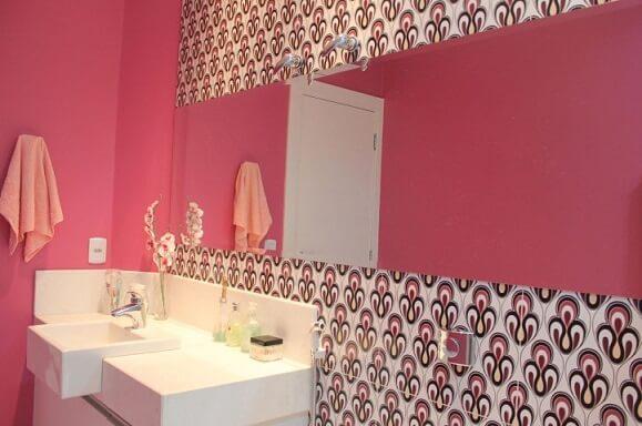 Espelho para banheiro retangular Projeto de Bruna Dias