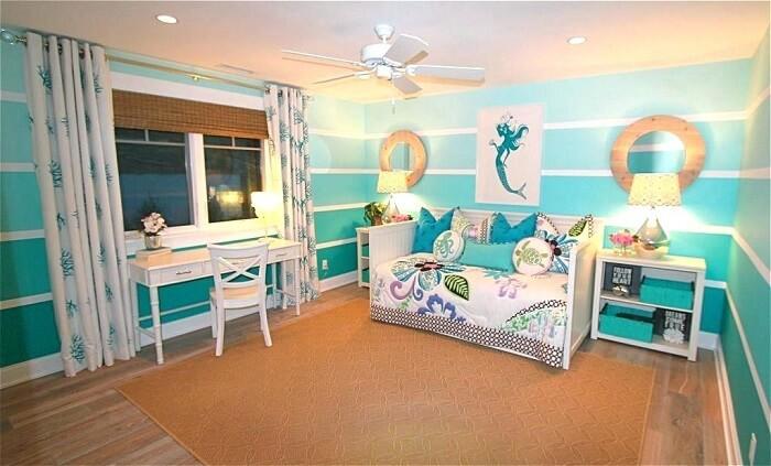 Forme uma linda composição em tons de azul na decoração do quarto infantil