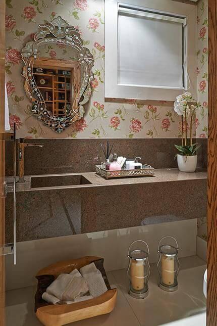Papel de Parede no banheiro glaucia britto 18242